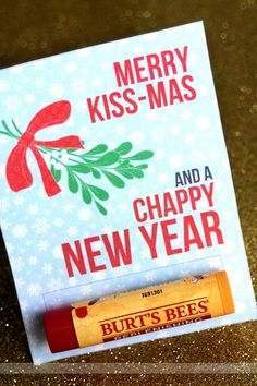 Merry kiss-mas & a happy new year printable. Last minute Christmas gift!!!