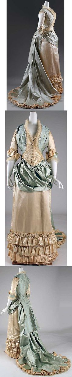Dinner dress, 1877-83, sold by Lord & Taylor.