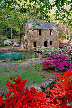 The Old Mill, North Little Rock, Arkansas pieces) Abandoned Houses, Abandoned Places, North Little Rock Arkansas, Arkansas Waterfalls, Beautiful World, Beautiful Places, Arkansas Vacations, Landscape Curbing, Le Moulin