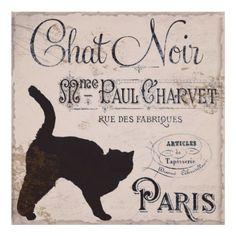 Vintage francés, Chat Noir, París Poster