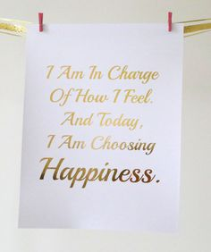 Real Gold Foil Print  I Am In Charge...I Am by MoonOrchids on Etsy
