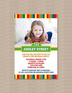 Sesame Street Inspired Birthday Party Invitations  by Honeyprint, $15.00