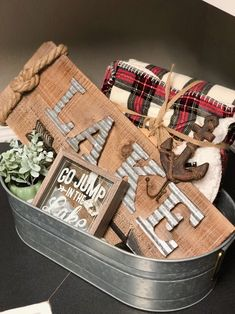 Fun Gifts, Basket Ideas, Gift Baskets, Lakes, Fundraising, House Warming, 30th, Cabin, Gift Ideas
