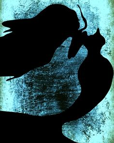 Abstract Glowing Blue Black Headless Mermaid 8 x 10 Print Plaque Picture Wall Art Photograph Photo Home Decor Dark by Concepts2Canvas on Etsy