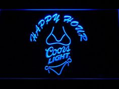Coors Light Bikini Happy Hour LED Neon Sign