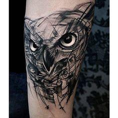 Alternative black and grey tattoo by Krzystof Sawicki. #KrzystofSawicki…