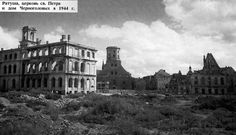 The destruction of Riga in WWII.