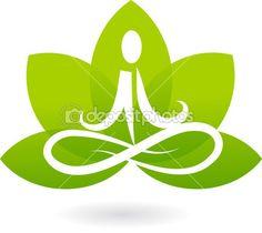 loto de la yoga icono / logotipo — Ilustración de stock #2873521