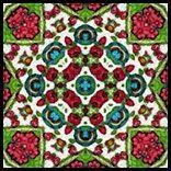 ArtbyJean - Tea Bag Tiles: Bright multicolor tea bag tiles ... all simply square.