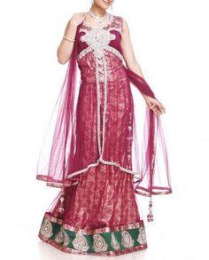 #Exclusivelyin, #IndianEthnicWear, #IndianWear, #Fashion, Maroon Wine Lehenga Set