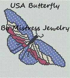 USA Butterfly Word Map & Chart | Bead-Patterns