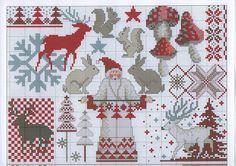 Cross-stitch Rustic Santa Claus, part 4.. color chart on part 3... Gallery.ru / Photo # 7 - 8 - oblakooo