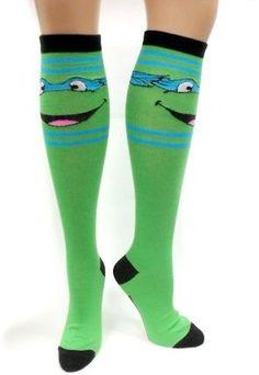 Amazon.com: TMNT Teenage Mutant Ninja Turtles Knee High Socks (Blue): Clothing @Arielle Heath