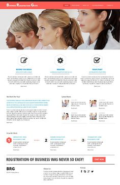 Template 47766 - Business Registration  Responsive Website Template