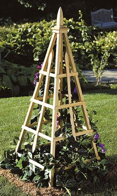 Garden Flower Tuteur Woodworking Plan, Outdoor Furniture Project Plan | WOOD Store