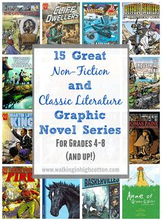 15 great Non-Fiction and Classic Literature graphic novel series for grades Full-color, engaging text, comic book style that upper elementary and middle school kids will enjoy reading. via Walking in High Cotton Comic Book Style, Comic Books, School Kids, Middle School, Best Book Reviews, Virginia History, Classic Literature, Classic Books, Book Review Blogs