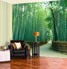 10. Active Wall. Active walls attract attention and this wall of green bamboos is bold and definitely attracts my eyes.