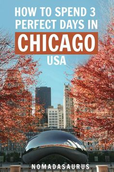 Headed to the Windy City and wondering what to do? Read this jam-packed itinerary guide to a perfect 3 days in Chicago to make the best of a short trip there! Visit Chicago, Chicago Usa, Chicago Travel, Chicago Places To Visit, Explore Travel, Travel Usa, Travel Tips, Travel Advice, Travel Guides