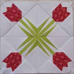 Sewhooked paper pieced pattern of the day-Blog Hop.  This one by Jen at The Quilting Jewel.