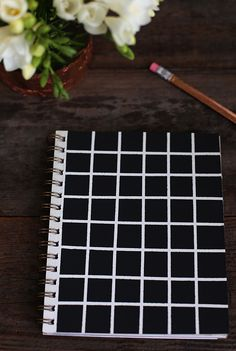 DIY geometric notebook #tutorial from Say Yes Blog