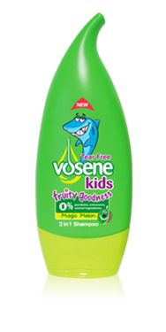 For shiny, soft and great smelling hair, try Vosene Kids Fruity Goodness Magic Melon shampoo and conditioner!