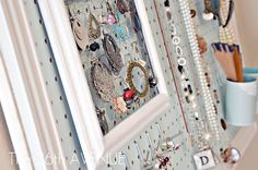 Pegboard accessory display