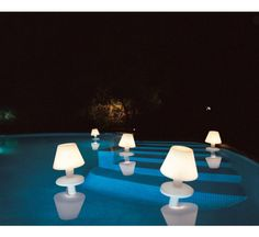 Waterproof is a floating lamp by Metalarte, ideal for a pool. #outdoor #lamp