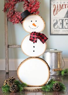 Ideas for winter decoration yourself: Enter the start of the crafting season - Hair Beauty - Food and Drink - Christmas - DIY and Crafts - Home Decor Snowman Christmas Decorations, Beautiful Christmas Decorations, Snowman Crafts, Xmas Crafts, Christmas Projects, Holiday Decor, Cool Wall Decor, Cool Walls, Decorating Your Home