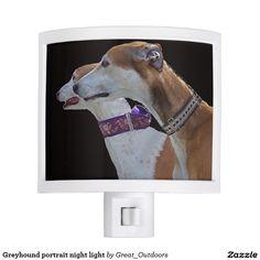 Greyhound portrait night light