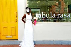 """A modern, nontraditional wedding shoot in Washington, DC. With Pantone's 2013 """"Vivacious"""" hot pink color palette.Images by MeShenee Photography."""