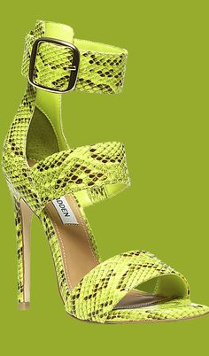 Trendy Color of the Year: Yellow Green Lemon Lime Custard, Chartreuse Citron Clothing – I'm Digging It Buy Shoes, Me Too Shoes, Trendy Womens Shoes, Leopard Print Shoes, Green Boots, High Heels, Shoes Heels, Sherbet Lemon, Lemon Lime