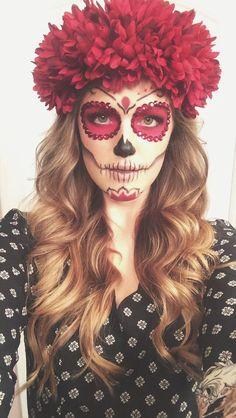 Sugar Skull La Catrina Kostüm selber machen | Kostüm Idee zu Karneval, Halloween & Fasching (Diy Makeup)