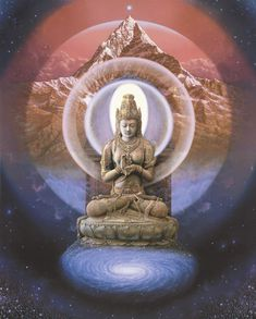 """""""the Silence Beyond"""" from the Buddha paintings series by  Herman Smorenburg"""