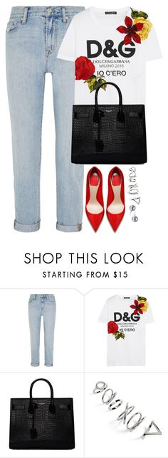 """Unbenannt #2335"" by luckylynn-cdii ❤ liked on Polyvore featuring Madewell, Dolce&Gabbana, Yves Saint Laurent and Topshop"