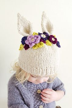 Hyzenthlay Rabbit Ears Beanie  by Sheila Toy Stromberg
