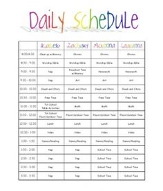 1000 images about schedules on pinterest kids daily for Kids weekly schedule template