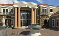 This luxury 5 bedroom house plan with photos has 5 garages. Browse double storey house designs and home designs in Limpopo. Tuscan House Plans, Modern House Floor Plans, Unique House Plans, Contemporary House Plans, Luxury House Plans, 4 Bedroom House Designs, 5 Bedroom House Plans, Garage House Plans, House Plans For Sale