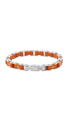 e399cbf7b6c Burnt Orange Bicycle Bracelet. Hubby Love, Burnt Orange, Bracelet Making,  Bicycles,