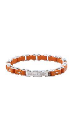 Burnt Orange Bicycle Bracelet.