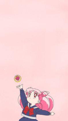 Sailor Chibi Moon, Arte Sailor Moon, Kawaii Wallpaper, Cartoon Wallpaper, Iphone Wallpaper, Sailor Moon Aesthetic, Aesthetic Anime, Animes Wallpapers, Cute Wallpapers