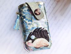 Porcupine Pouch for Samsung Galaxy S6, S6 Edge from Lily's Handmade - Desire 2 Handmade Gifts, Bags, Charms, Pouches, Cases, Purses by DaWanda.com