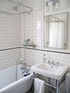 glass shelving around bathtub?