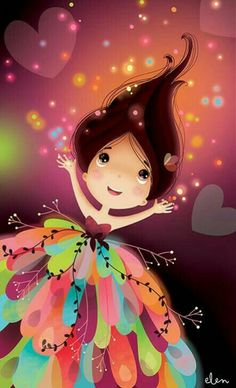 Cute Wallpaper For Girls Cute Images, Pretty Pictures, Cute Cartoon Girl, Cute Girl Wallpaper, Cute Cartoon Wallpapers, Whimsical Art, Cute Illustration, Belle Photo, Cute Drawings