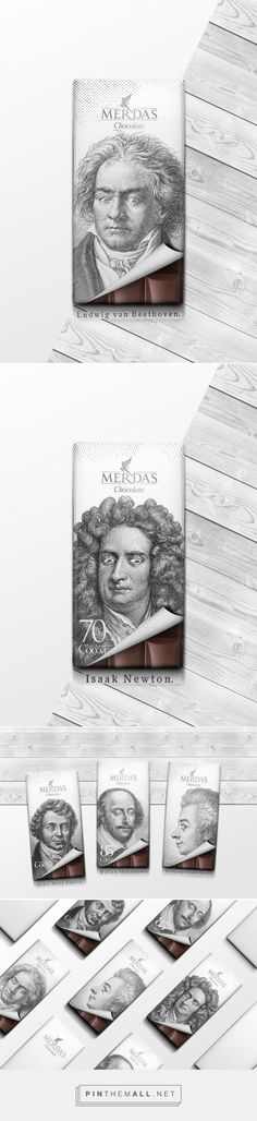 Even legends cannot resist a treat! Merdas Classic Chocolate packaging design by…
