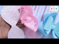 Making Hair Bows, Diy Hair Bows, Diy Bow, Diy Ribbon, Bow Hair Clips, Ribbon Bows, Fabric Bow Tutorial, Hair Bow Tutorial, Embroidery Works