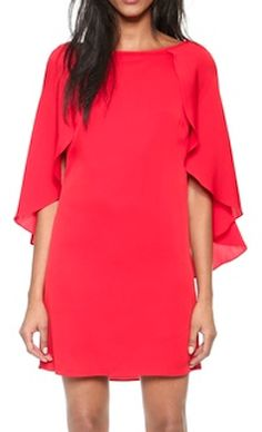 red dress with fluttering sleeves  http://rstyle.me/n/qf472pdpe