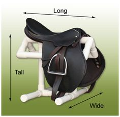 "I NEED this!!! Saddle stand for back of car 22"" wide, 22"" long and 18"" tall. Make out of PVC pipe"