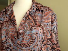 VTG Silk Paisley Blouse 'SilkLeatherandLace' on Etsy