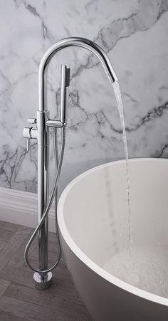 Design Floor Mounted Bath/Shower Mixer Tap from Crosswater http://www.crosswater.co.uk/product/design/design-bath-shower-mixer/