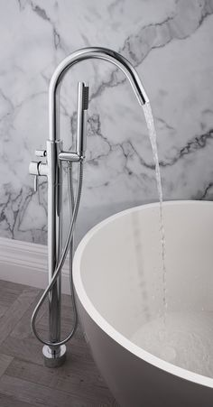 Design Floor Mounted Bath/Shower Mixer Tap from Crosswater http://www.crosswater.co.uk/product/design/design-bath-shower-mixer/
